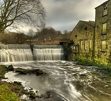 Roach Bridge Weir near Preston by Steve  Liptrot