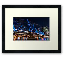 Kurilpa Bridge from Below Framed Print