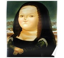 Fat Mona Lisa Poster