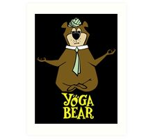 Yogi Bear Yoga Art Print