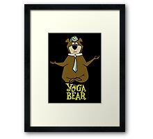 Yogi Bear Yoga Framed Print