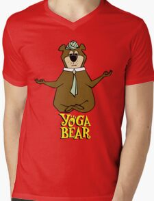 Yogi Bear Yoga Mens V-Neck T-Shirt