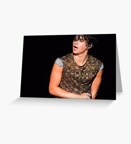 Bradley Simpson of The Vamps Greeting Card