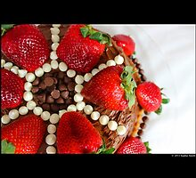 Strawberry Chocolate Cream Cheese Cake by © Sophie W. Smith