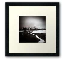 Just Follow The Line Framed Print