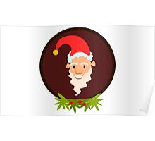 Christmas Santa Claus Vector Design Poster