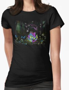 Orb Tree Womens Fitted T-Shirt