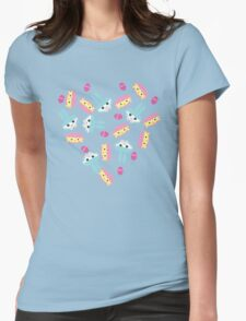 Easter Bunny and Chick Macarons  Womens Fitted T-Shirt