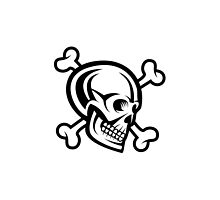 Pirate Skull and Bones Design by tshirtdesign