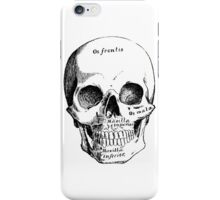 Science, Skull Diagram Drawing iPhone Case/Skin