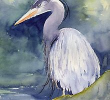 Heron by Myhandyourheart
