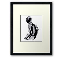 Blind man Framed Print