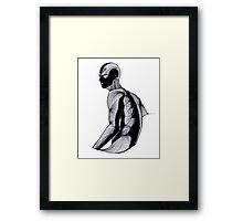 Blind man Framed Print