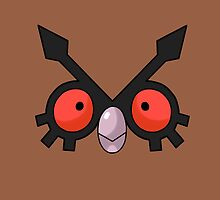 Hoothoot Face by alienaviary