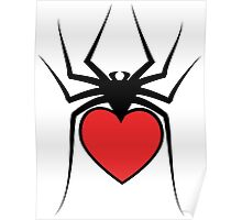 Love Spider Design Poster