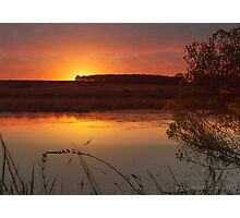 Beautiful calm sunset at the lake. Photographic Print
