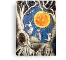 they dance under the light of the moon paper cut Canvas Print