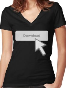 Download Women's Fitted V-Neck T-Shirt