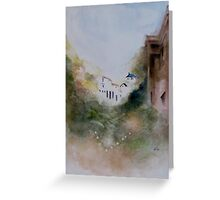 Tokiko Anderson - House on a hill Greeting Card