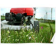 Lawnmower Vs. Grass! Poster