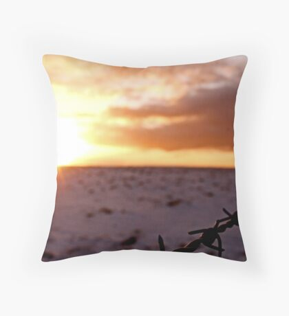 Snowy Sunset Throw Pillow