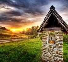 Deity on a brick by Bartek Kuzia