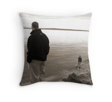 Big Child, Small Child Throw Pillow