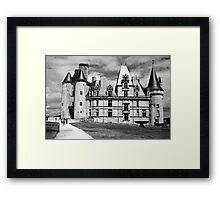 Castle - France - B&W Framed Print
