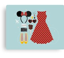 Disney Flatlay Canvas Print