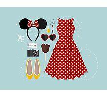 Disney Flatlay Photographic Print
