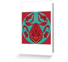 red legged frog Greeting Card