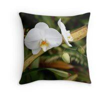 Garden Orchid Throw Pillow