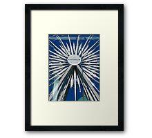Belfast Wheel Reflection Framed Print