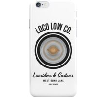 Loco Low Co. (Black)  iPhone Case/Skin