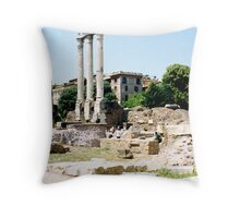 The Ruined Temple Of Castor and Pollux Throw Pillow