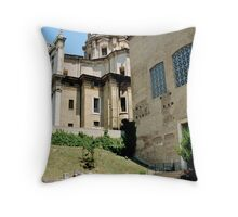 West End Of Roman Forum, Rome, Italy Throw Pillow