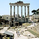 Temple Of Saturn, Roman Forum, Rome, Italy by hojphotography