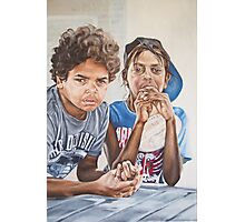 Breakfast Boys Photographic Print