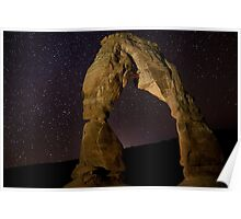 Delicate Arch at Night Poster