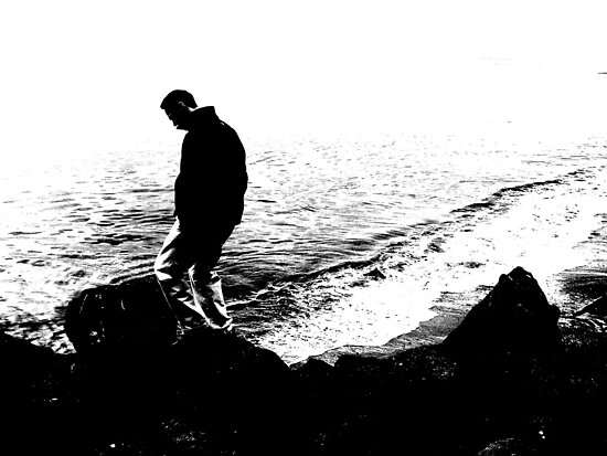 Thinking On The Rocks by WaleskaL