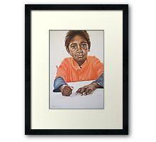 Joel's Drawing Framed Print