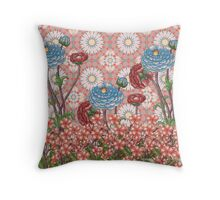 sunrise flower and print 2 Throw Pillow