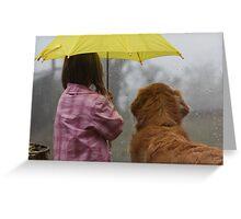 Sharing the Umbrella 2 Greeting Card