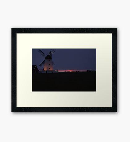 lytham windmill at dusk Framed Print
