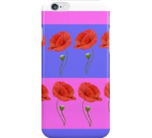 Graphic Poppies   iPhone Case/Skin