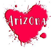 Arizona Splash Heart Arizona Photographic Print