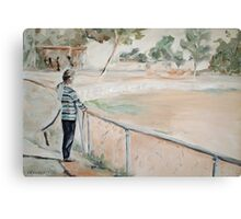 Miriam and the Fence Canvas Print