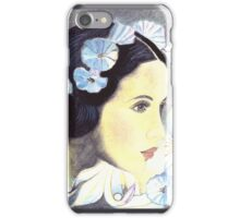 """BEAUTIFUL """"ART NOUVEAU"""" WOMAN WITH LILIES  iPhone Case/Skin"""