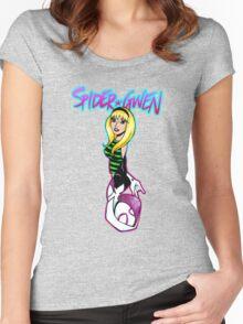 Lovely Neighborhood Spider-Gwen Women's Fitted Scoop T-Shirt