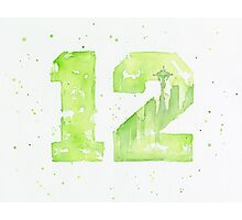 12th Man Seahawks Seattle Art Photographic Print